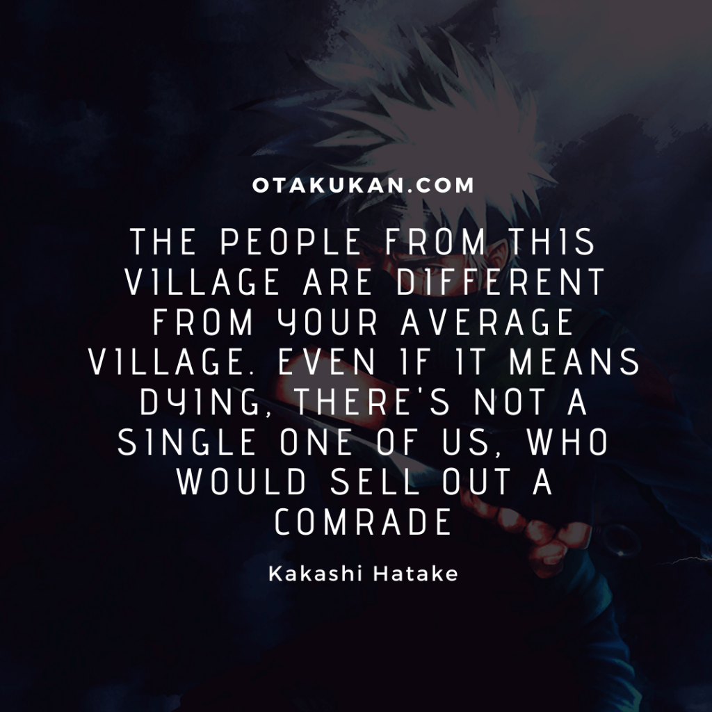 Best Kakashi Hatake Quotes
