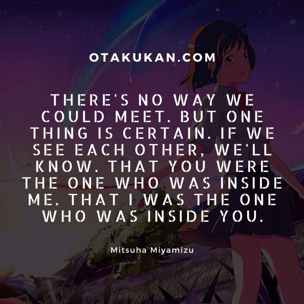 Quotes by Mitsuha Miyamizu