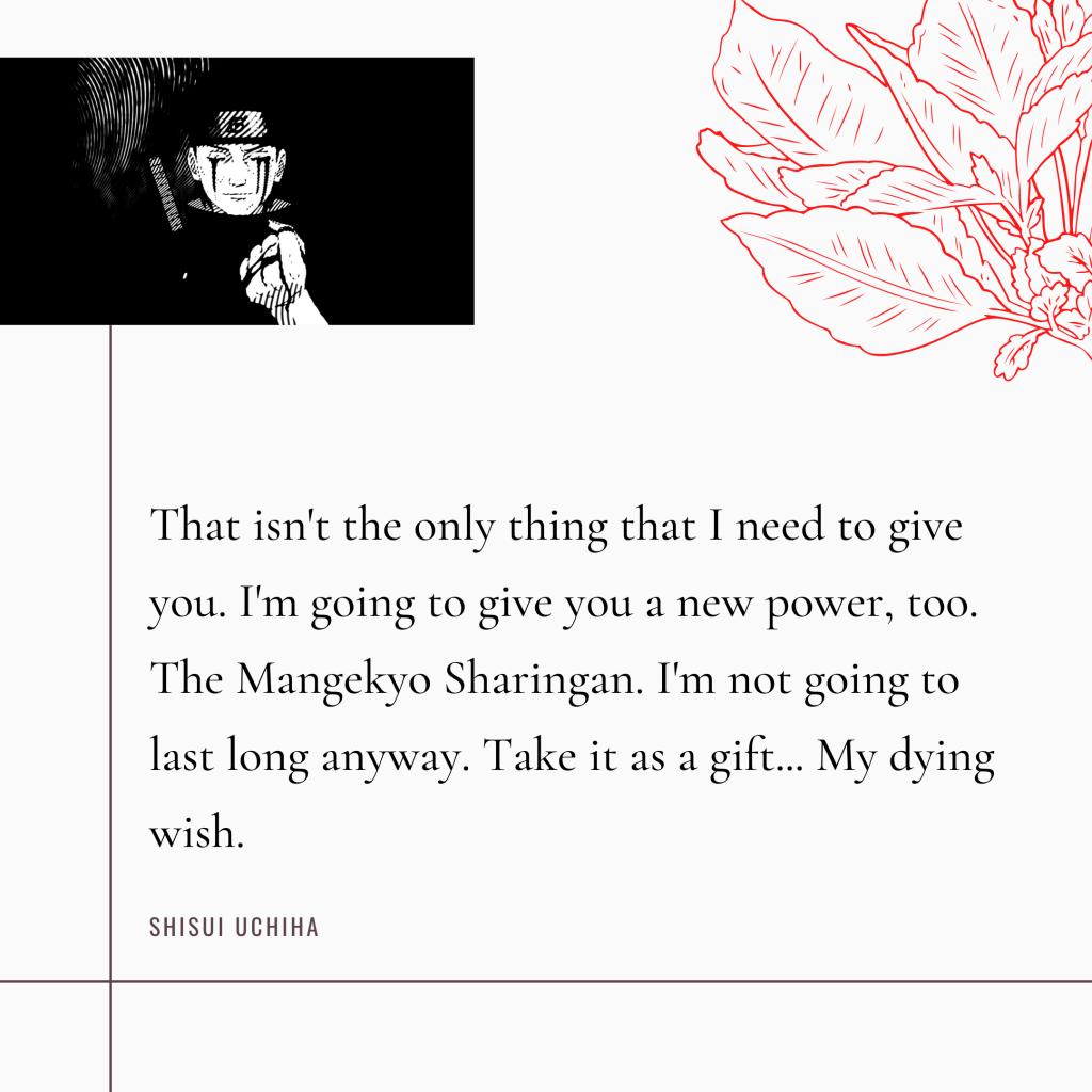 Shisui Uchiha Quotes