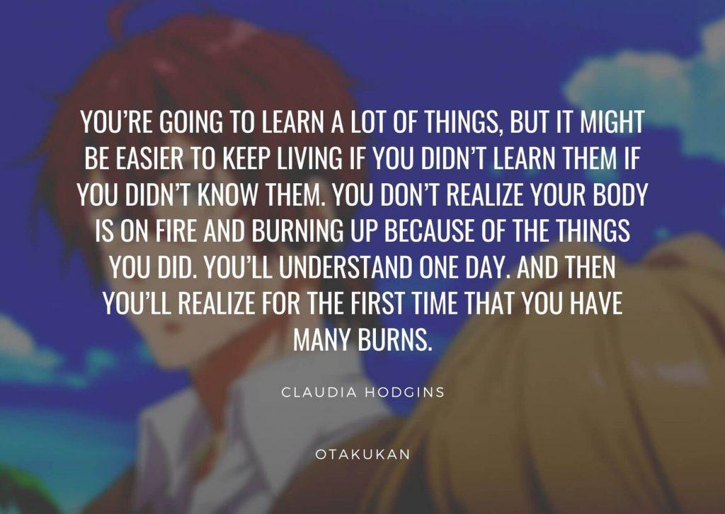 Claudia Hodgins Quotes